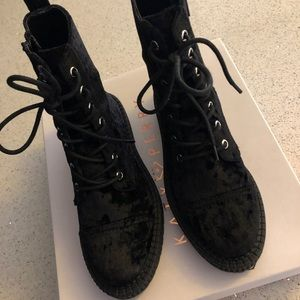 Katy Perry Collections Shoes - Katy Perry Gia crushed velvet boots